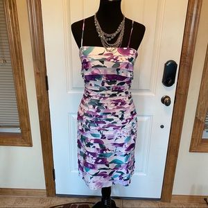New DressBarn Floral Ruffle Party Watercolor Dress